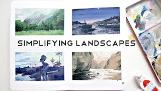 Simplifying Landscapes · Gouache Speed-Painting Process · semiskimmedmin ad