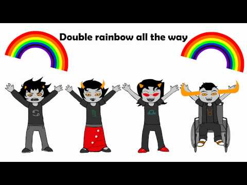 Gamzee: Fondly regard rainbow.