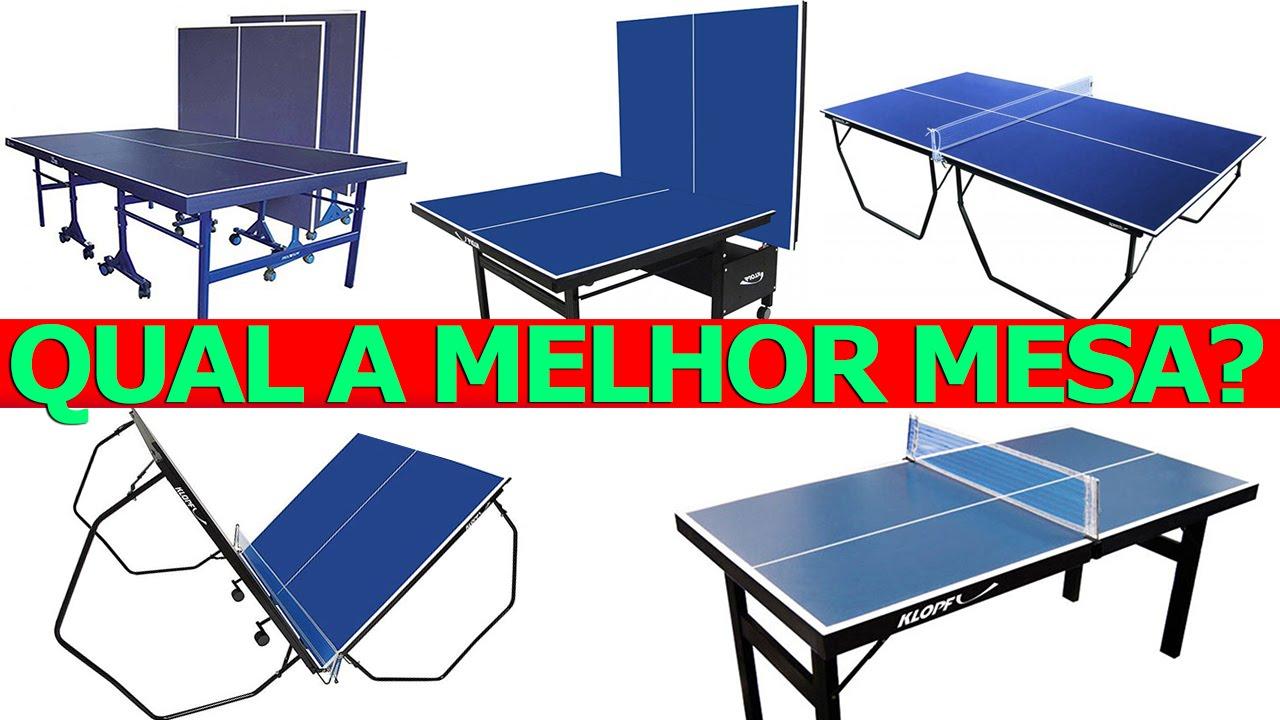 2815eda05 MESAS DE TÊNIS DE MESA E PING PONG QUAL É A MELHOR  - YouTube