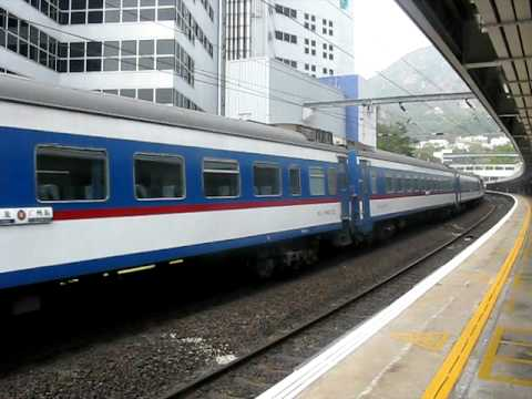 CNR T814 Passing MTR Kowloon Tong Station