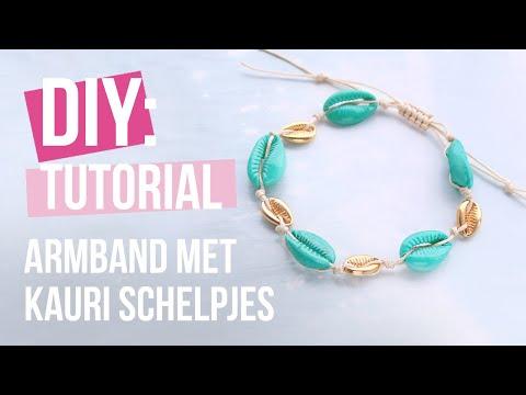 Sieraden maken: Hoe maak je sieraden met kauri schelpjes? ♡ DIY