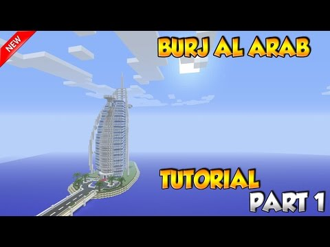 Minecraft Burj Al Arab Tutorial Part 1 - PS4/XBOX/PC