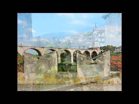 Dronero (valle Maira, Cuneo) Il PONTE DEL DIAVOLO  e il resto della città - slideshow