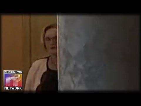 BOOM! Dirty Missouri Senator Claire McCaskill Caught Hiding and Peeking Around Pillar at Town Hall