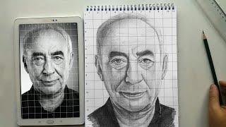 Portre Taslak Çizimi Nasıl Yapılır ? / Karelere Bölme Yöntemi