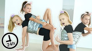 STUCK TO MY LITTLE SISTER for 24 HOURS Challenge!