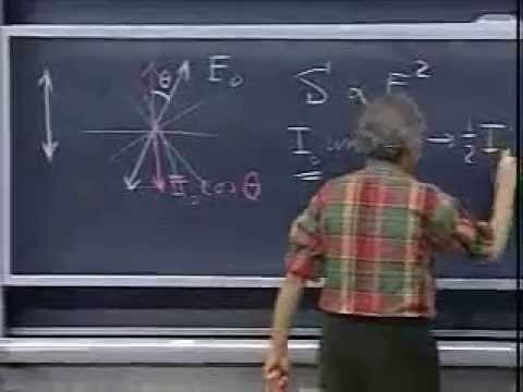 Lec 30: Polarizers and Malus's Law   8.02 Electricity and Magnetism, Spring 2002 (Walter Lewin)