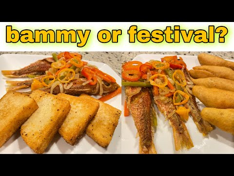 How to make fried festivals, escovitch fish and fried bammy | Jamaican authentic fried fish