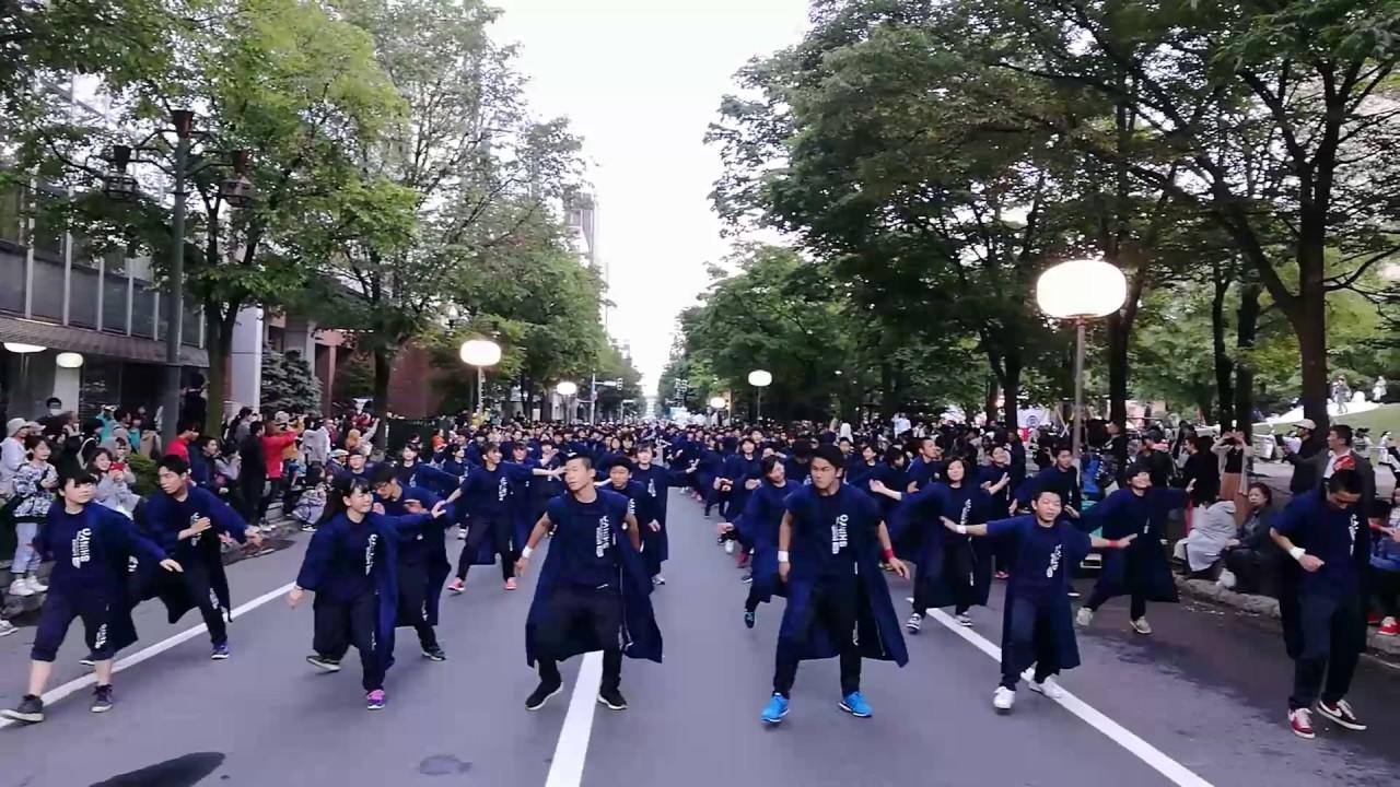 新陽高校のYOSAKOIソーラン祭り初參加映像 - YouTube