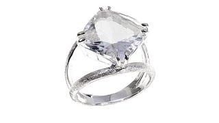 Deb Guyot Designs 6.5ct Herkimer Quartz Rose Top Ring