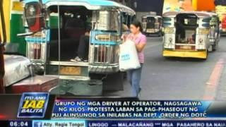 Drivers, operators, nagsagawa ng kilos-protesta laban sa pag-phase out ng PUJ