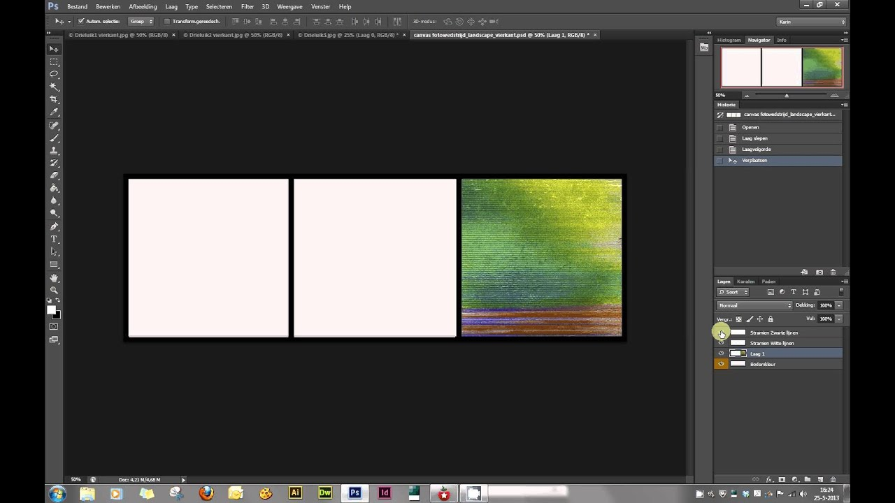 Foto Drieluik Drieluik Maken In Photoshop - Youtube