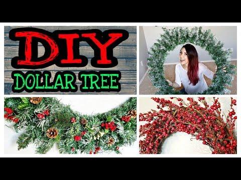 Dollar Tree DIY Christmas Decorations / Rustic DIY Large Christmas Wreaths