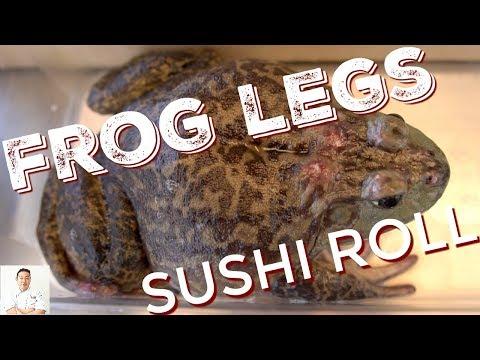 Green Frog Legs Sushi Roll | NON VEGAN EDITION