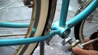 1-Piece Crank Replacement, BBT Bearing Repack on Cruiser Bike Video