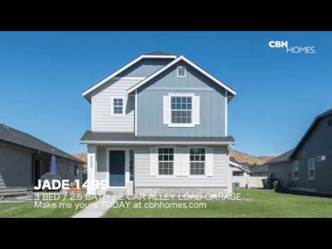 CBH Homes   Jade 1499   2 Bed, 2.5 Bath, 2 Car Alley Load Garage