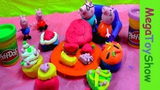 Peppa Pig Dough Cupcake Party Playset  Play-doh Peppa Pig Frosting Cupcakes