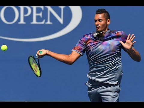2017 US Open: Kyrgios fires a winner