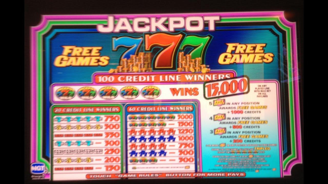 Jackpot 777 Slot Machine Free Game Bonus - YouTube