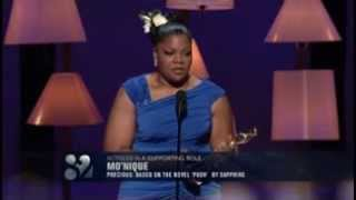 Mo'nique winning Best Supporting Actress for Precious