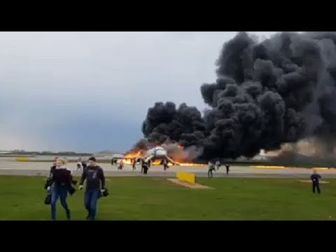 At Least 41 Dead After An Aeroflot Jet Caught Fire During An Emergency Landing At A Moscow Airport