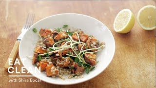 Roasted Sweet Potato And Farro Salad - Eat Clean With Shira Bocar