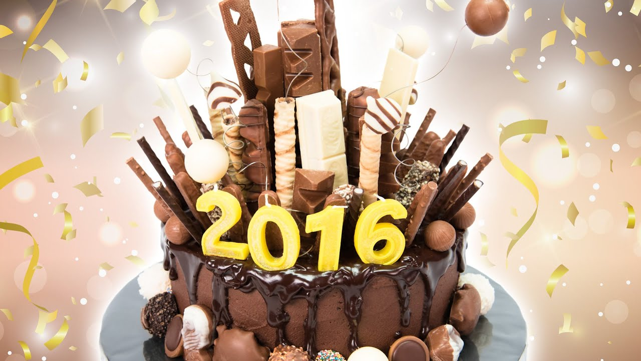 New Years Eve Chocolate Explosion Cake from Cookies Cupcakes and