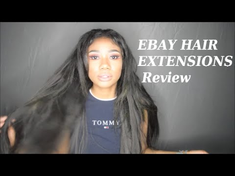 Ebay Synthetic clip-in hair review + demo - YouTube 79e9ad7dc