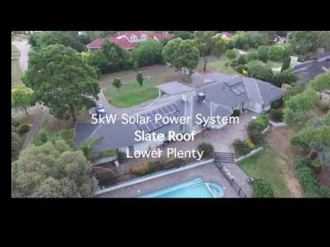 Solar Power Install on Slate Roof