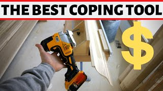 Best tool for coping base and crown??? Dewalt DCS335B w Coping Foot for the Win