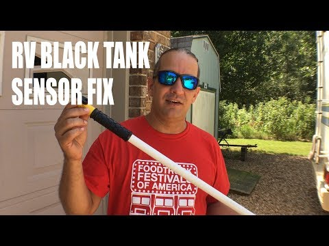 HOW TO CLEAN YOUR RV BLACK TANK SENSORS | Camco Swivel Stik Review | Full Time RV Living