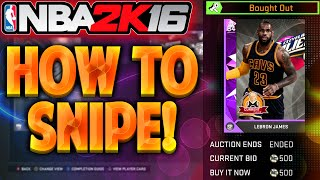 NBA 2K16 MyTeam How To Snipe On The Auction Block! HOW TO MAKE MT!