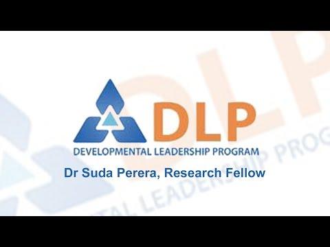 Dr Suda Perera - Research Fellow, Developmental Leadership Program (DLP)