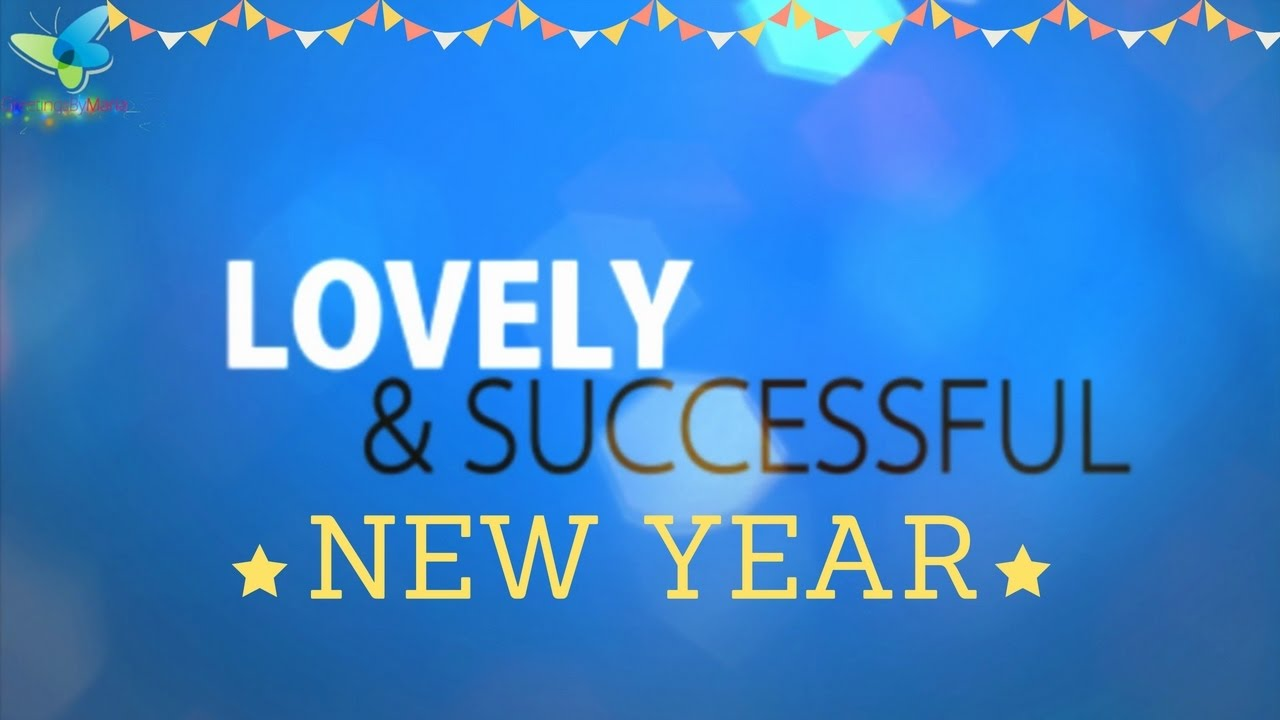Awesome Happy New Year Wishes Typography Animation Beautiful New