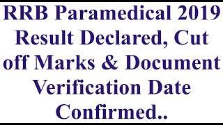 RRB 2019 Staff Nurse &Paramedical Result Declared    Railway Staff nurse Result declared  Cen02/2019