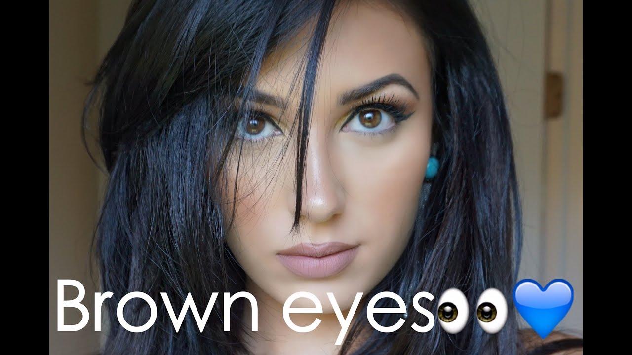 Maya Mia Palette Makeup Look And Eyeshadows For Brown Eyes
