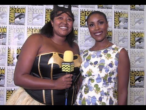 Christine Adams Black Lightning at San Diego ComicCon 2017