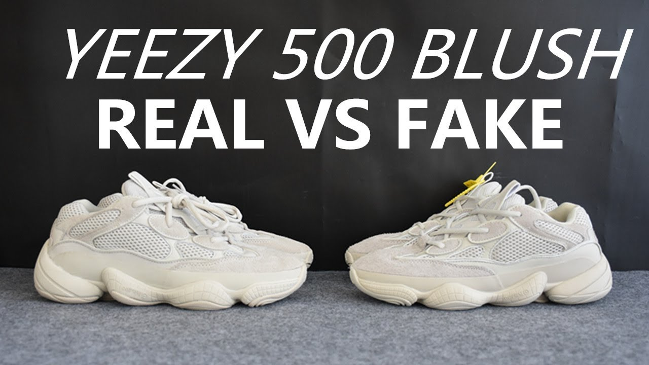 0b3593683 Real VS Fake Yeezy 500 Blush Deep Comparison from SUPLOOK - YouTube