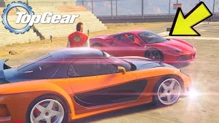 GTA V: TopGear | SUPER Rx7 do TJ ( Yakuza ) VS Ferrari do Neymar