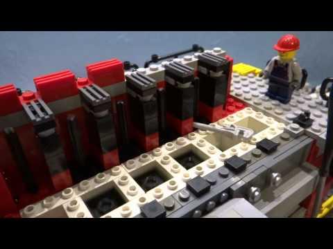 LEGO Marine Diesel Engine Minifigure Scale