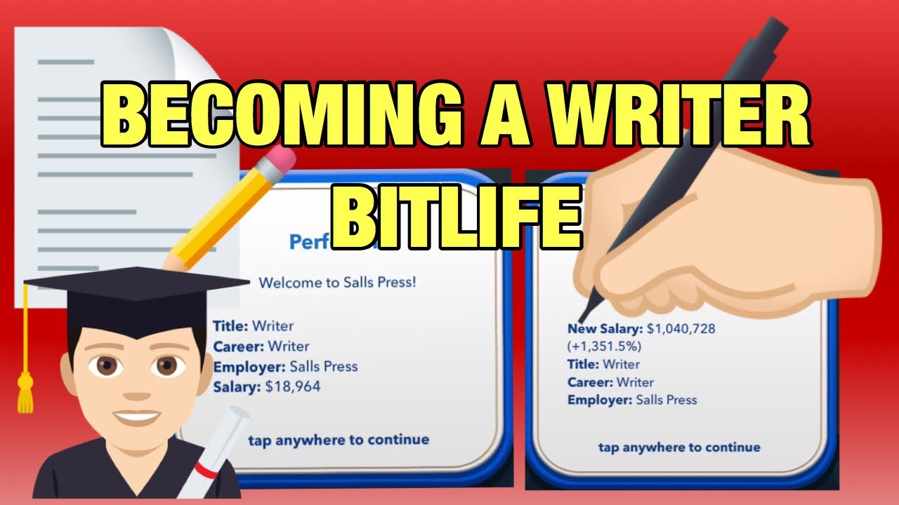 How to become a Writer in BitLife - YouTube
