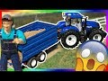 RC tractor and excavator construction work | Excavator and tractor FOR KIDS
