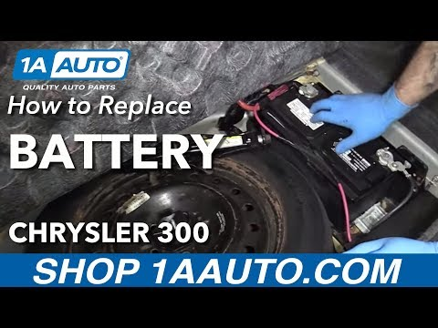 How to Replace Install New Battery 2006 Chrysler 300