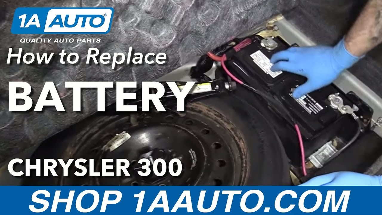 How To Replace Dead Battery 05 10 Chrysler 300