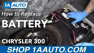 How to Replace Dead Battery 05-10 Chrysler 300