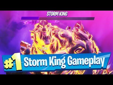 Storm King Gameplay - Fortnite (Fortnitemares 2019 Event LTM)