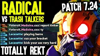 Radical Tinker Totally Destroyed Them And This Happens - First Tinker Game Patch 7.24 Dota 2