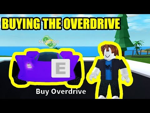 BUYING the *NEW* OVERDRIVE 4 MILLION CAR!   Roblox Mad City