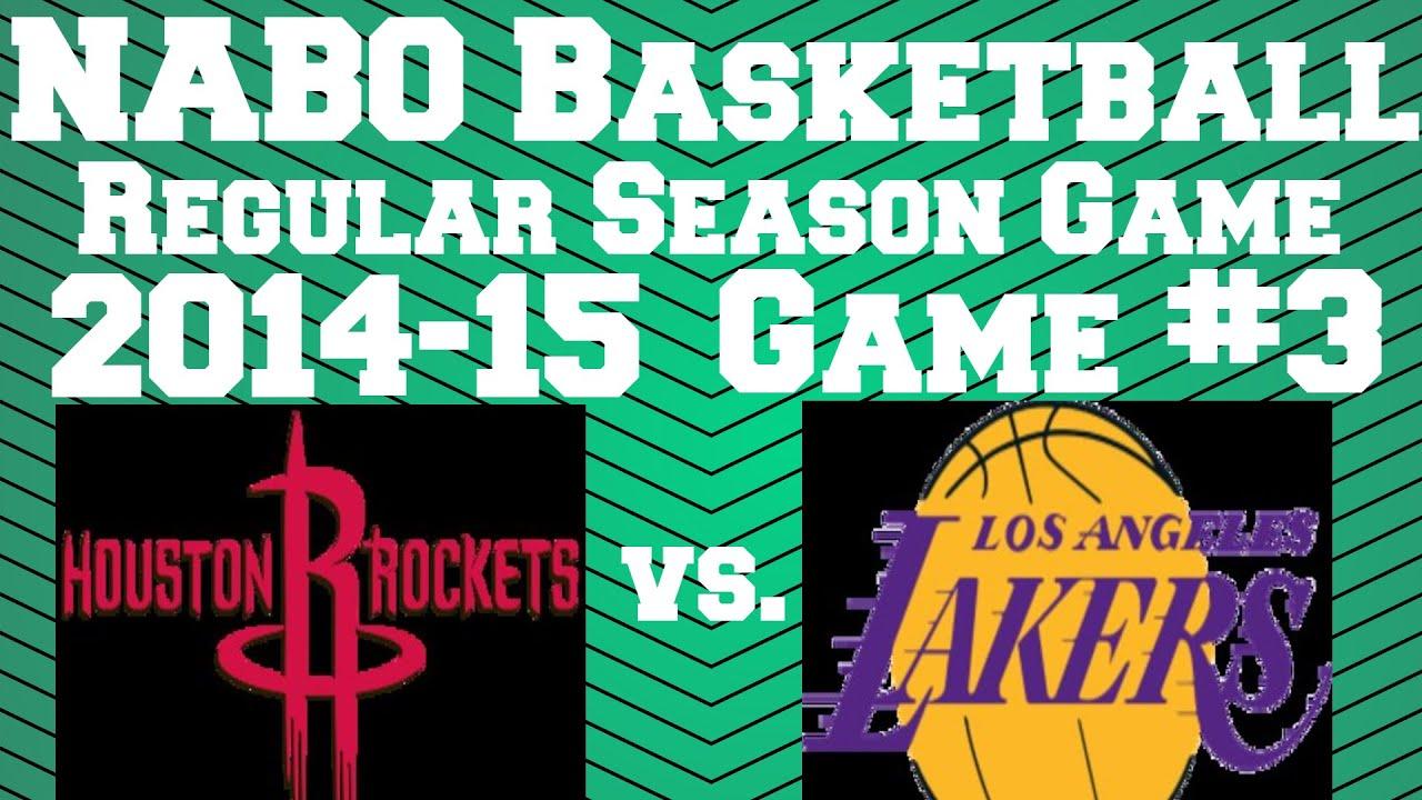 NABO Basketball 2014-15 Regular Season Game #3: Houston ...