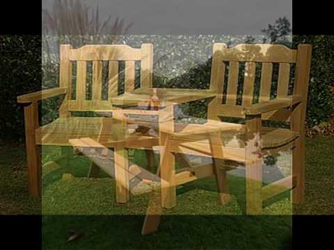 Wooden Garden Furniture - Hardwood Garden Table and Chairs ...